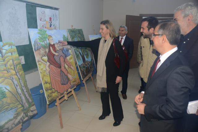 Visite de Federica Mogherini, vice-présidente de la CE, Johannes Hahn et Christos Stylianides, membres de la CE, en Turquie
