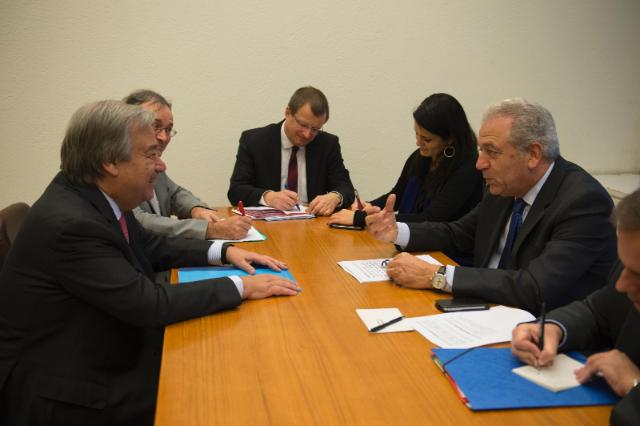 Participation of Dimitris Avramopoulos, Member of the EC, at the UNHCR Pledging Conference on resettlement and other forms of admission for Syrian refugees