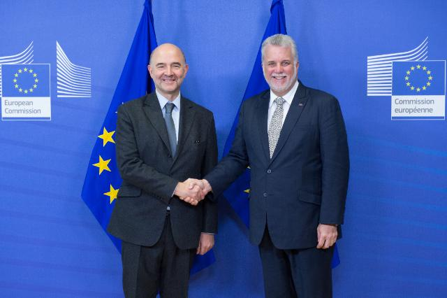 Visit of Philippe Couillard, Prime Minister of Quebec, to the EC