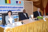 Annick Girardin, French Minister of State for Development and Francophony, Modibo Keïta, Malian Prime Minister, and Christos Stylianides (from left to right)