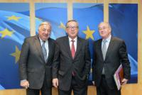 Visite de Gérard Larcher, président du Sénat français, à la CE