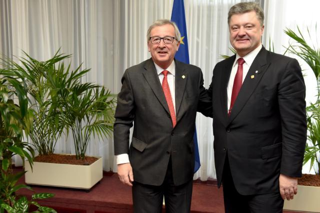 Meeting between Petro Poroshenko, President of Ukraine, and Jean-Claude Juncker, President of the EC