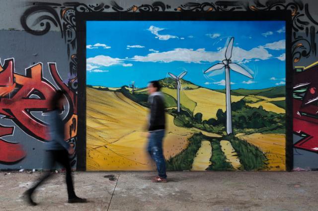 Dix priorités politiques pour l'UE: graffitis