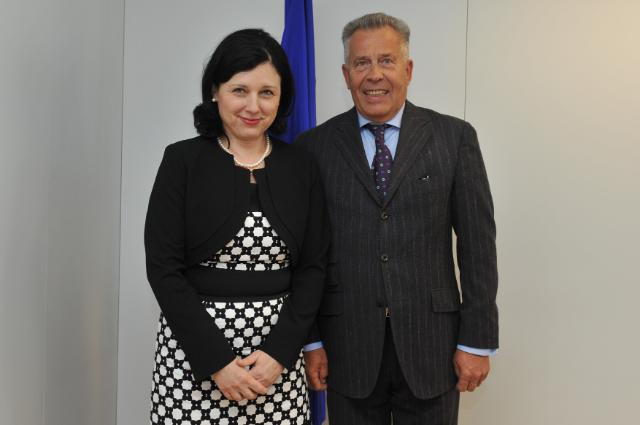 Visite de Richard Weber, président d'Eurochambres, à la CE