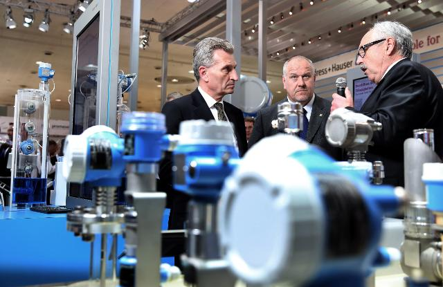 Participation of Günther Oettinger, Member of the EC, at the 2015 Hannover Messe