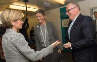 Julie Bishop, Margrethe Vestager and Frans Timmermans (in the foreground, from left to right)