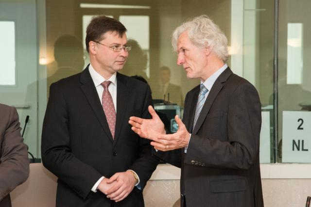 Visit of Valdis Dombrovskis, Vice-President of the EC, to Belgium