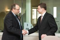 "Illustration of ""Visit of Valdis Dombrovskis, Vice-President of the EC, to Belgium"""