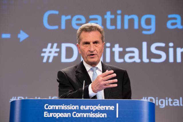 Joint press conference by Andrus Ansip, Vice-President of the EC, and Günther Oettinger, Member of the EC, on the conclusions of the weekly meeting of the Juncker Commission