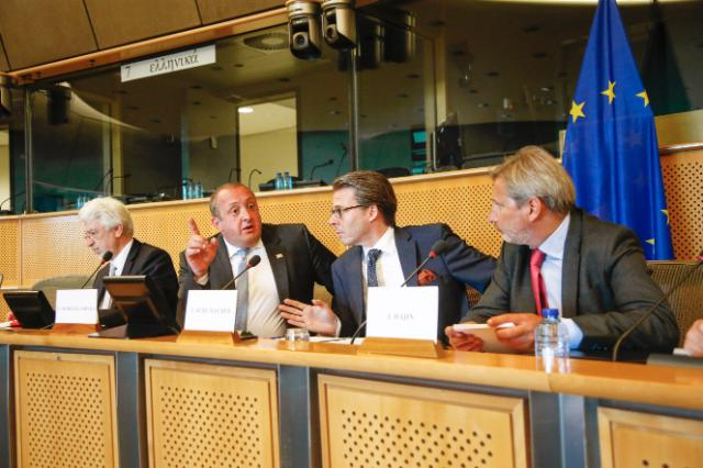 Johannes Hahn participates in the Conference Eastern Partnership – A Partnership of Free Choice at the European Parliament in Brussels