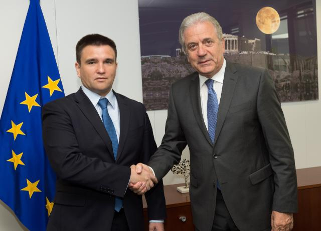 Visit of Pavlo Klimkin, Ukrainian Minister for Foreign Affairs, to the EC