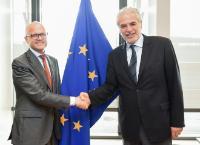 Visite à la CE de Vidar Helgesen, ministre norvégien responsable de l'EEE et des Affaires européennes au ministère des Affaires étrangères et chef de cabinet de la Première ministre