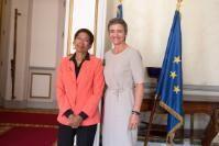 Dialogue avec les citoyens à Paris avec Margrethe Vestager