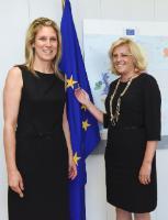Visite de Silvana Koch-Mehrin, co-fondatrice et PDG du 'Forum mondial pour les Femmes dans les Parlements', à la CE