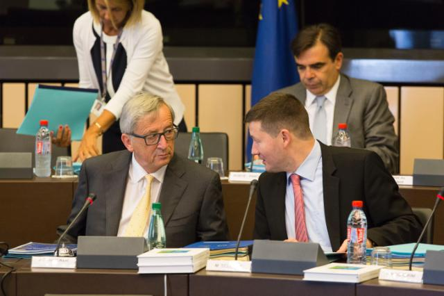 Participation of Jean-Claude Juncker, President of the EC, and several Members of the College of the EC in the EP plenary session