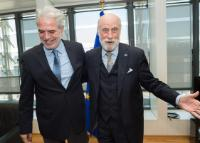 "Illustration of ""Visit of Vint Cerf, Vice-President of Google, to the EC"""
