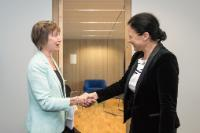 Vĕra Jourová receives representatives of the European Network of Equality Bodies