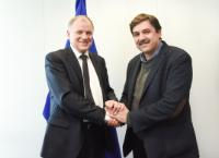 Visit of Andreas Xanthos, Greek Minister for Health, to the EC
