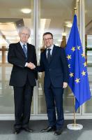 Visit of Mario Monti, Italian Senator, to the EC