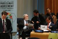 Participation de Miguel Arias Cañete, membre de la CE, à la cérémonie de signature de l'accord de Paris sur le climat