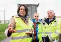 Participation of Violeta Bulc, Member of the EC, in the roadside check of lorries in Drogenbos in Belgium