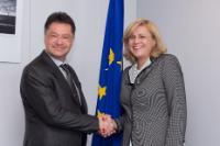 Visite de Petru Sorin Bușe, ministre roumain des Transports, à la CE