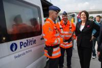 Partcipation de Violeta Bulc, membre de la CE, à une opération de sécurité routière dans le cadre de la semaine européenne de la mobilité et de la Journée européenne sans décès sur la route.