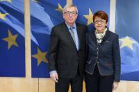 Visite d'Ingeborg Grässle, membre du PE, à la CE