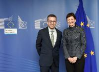 Visit of Maja Makovec Brenčič, Slovenian Minister for Education, Science and Sport, to the EC