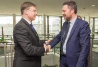 Visit of Luca Visentini, General Secretary of the ETUC, to the EC