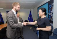 Visite de Jevgeni Ossinovski, ministre estonien de la Santé et du Travail, à la CE