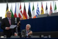 Participation of Jean-Claude Juncker, President of the EC, and several Members of the College of the EC, in the EP plenary session