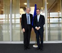 Visit of Mario Monti, President of the Bocconi University, to the EC