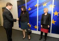 Visite de représentants des agriculteurs baltes, à la CE