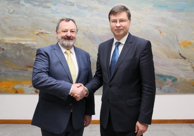 Visit by Valdis Dombrovskis, Vice-President of the EC, to Ireland