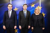 Visite des membres de l'Assemblée nationale française, à la CE