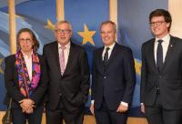 Visite de François de Rugy, président de l'Assemblée nationale française, à la CE