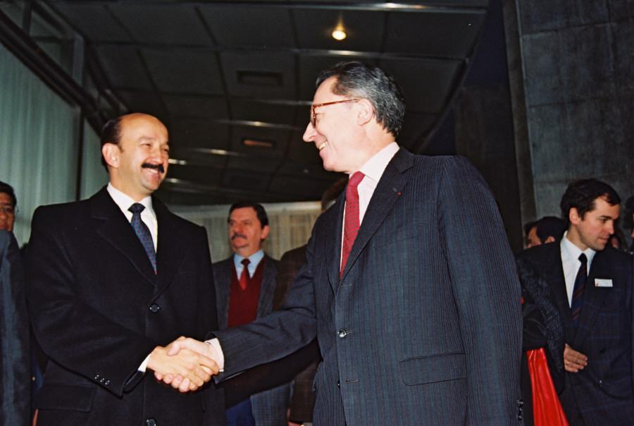 Visit of Carlos Salinas De Gortari, President of Mexico, to the CEC