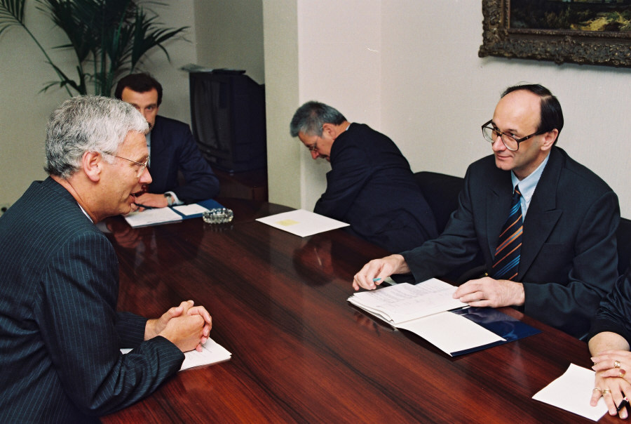 Visit of Nikica Valentić, Croatian Prime Minister, to the CEC