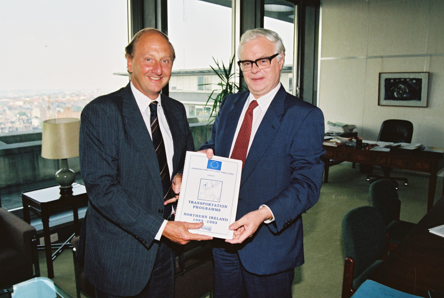 Visit of Richard Needham, British Under Secretary of State for Nothern Ireland, to the CEC
