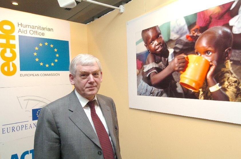 Poul Nielson, Member of the EC, at the Youth Solidarity Day