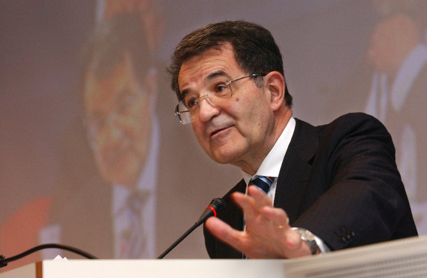 Romano Prodi, President of the EC, at the Conference on dialogue between peoples and cultures