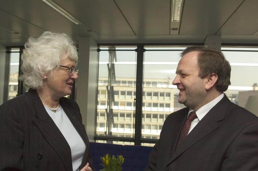 Visite de Gheorghe Flutur, ministre roumain de l'Agriculture, des Forêts et du Développement rural, à la CE