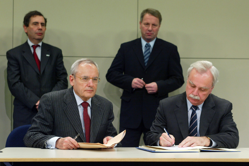 Signature of a memorandum of understanding on the deployment of a European rail traffic management system