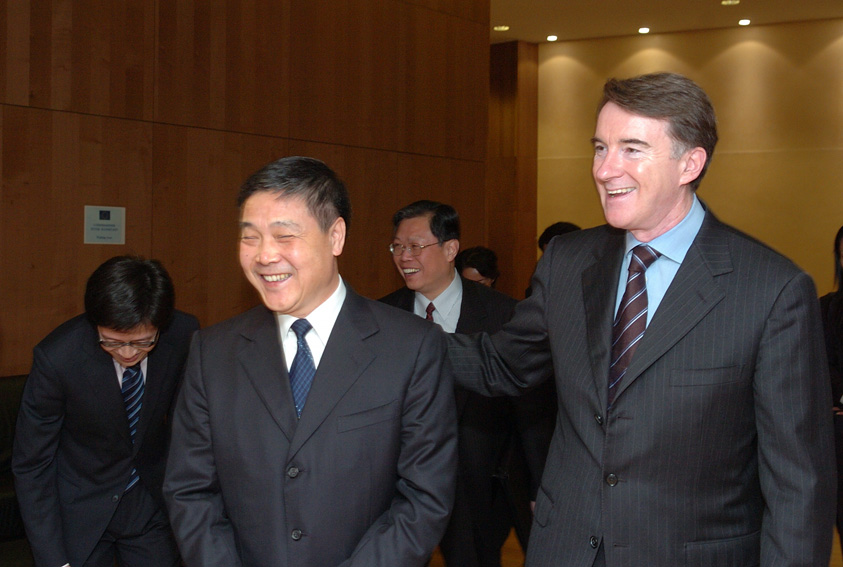 Visit of  Zhang Zhigang, Chinese Vice-Minister for Trade, to the EC
