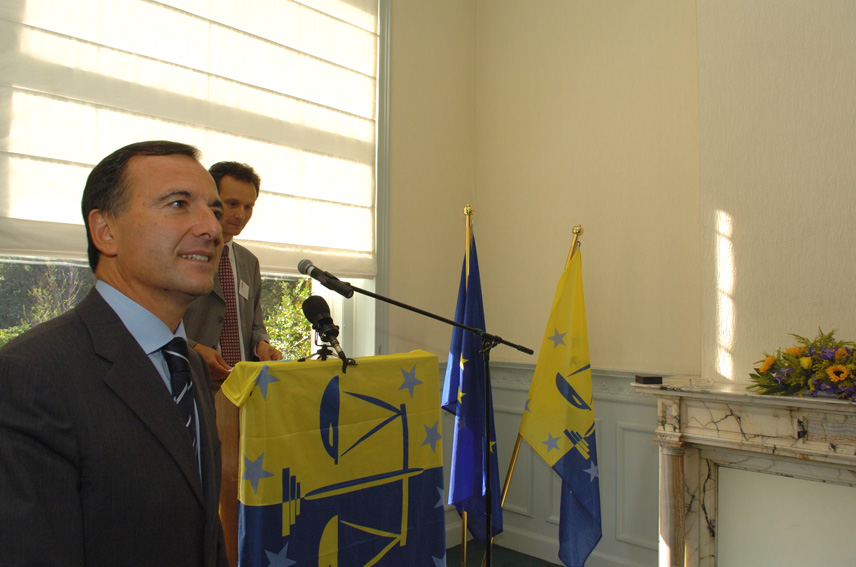 Franco Frattini, Vice-President of the EC at the inauguration of the Headquarters of the European Judicial Training Network (EJTN)