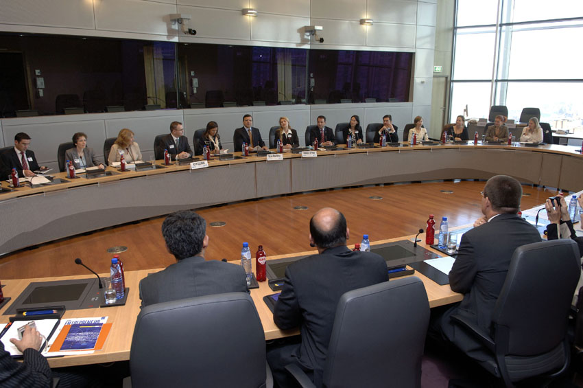 Visit by a delegation from the Junior Chamber International to the EC