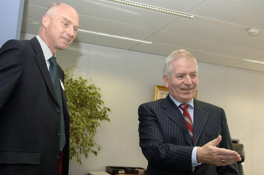 Visite de Lars Grönstedt, PDG de Svenska Handelsbanken AB, à la CE