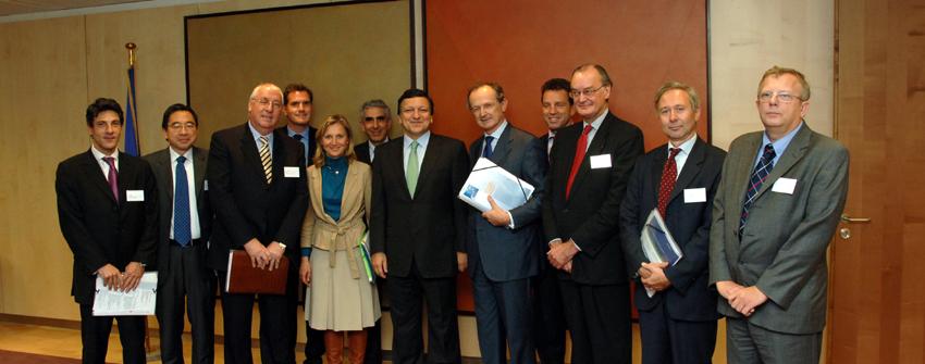 Visite d'une délégation de La Baule, la conférence d'investissement mondial, à la CE