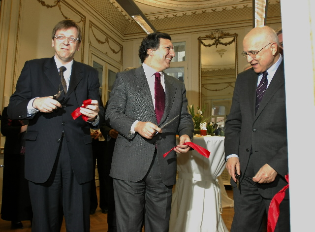José Manuel Barroso, President of the EC, at the inauguration of the Renewable Energy House